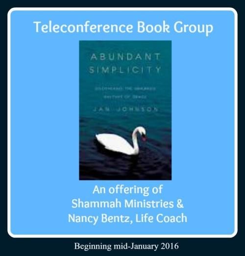 Abundant Simplicity ~ Phone-in Book Group