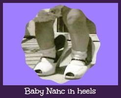 Baby Nanc in heels