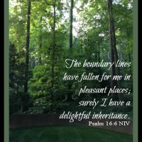 Boundary Lines in Pleasant Places