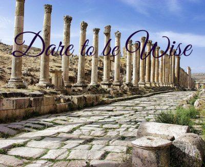 wisdom - row of ancient columns