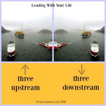 Three Upstream, Three Downstream