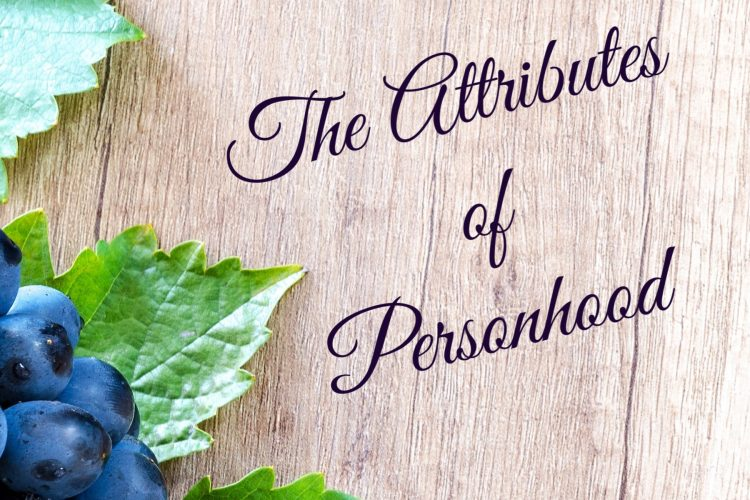 Holy Spirit Study - The Attributes of Personhood