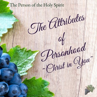 The Attributes of Personhood – Christ in You