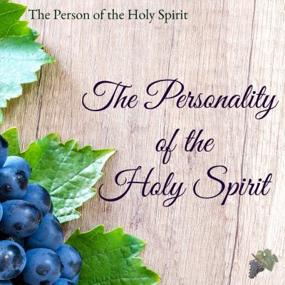 Holy Spirit Personality article