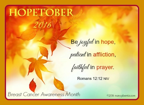Hopetober 2016 – Breast Cancer Awareness Month