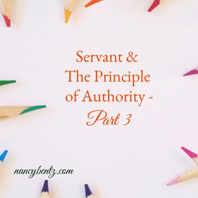 Servant & The Principle of Authority - Part 3