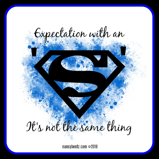 Expectation with an 's'. It's not the same thing